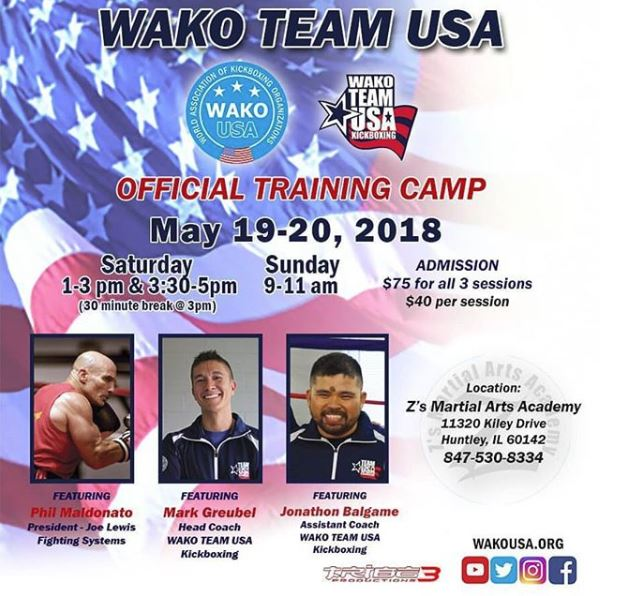 Team USA Kickboxing Seminar-Mark Greubel - Mark Greubel, Phili Maldonato, and Jonathon Balgame to give instruction at WAKO Team USA Training Seminar!