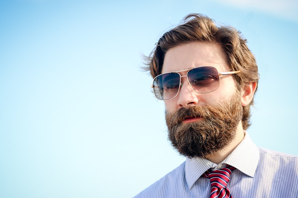Business Man Sunglasses Sky Guy Beard