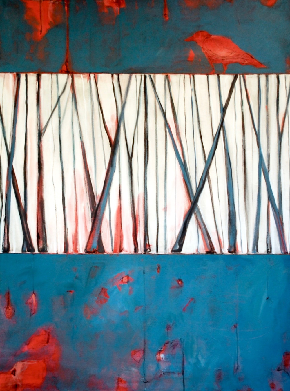 Red Crow, Cropped Woods (30x40).jpg
