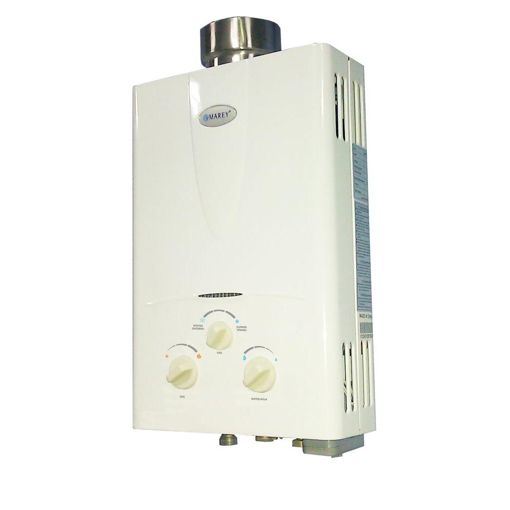 - Tankless or Demand-type Water Heaters- heat water directly when the water flows from the hot water valve at the point of use without the use of a storage tank.