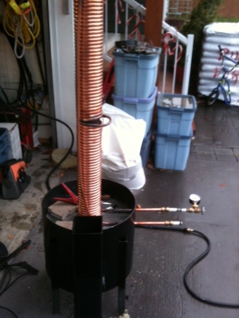 - Stove Pipe Water Heater- used in combination with space heating wood furnace.