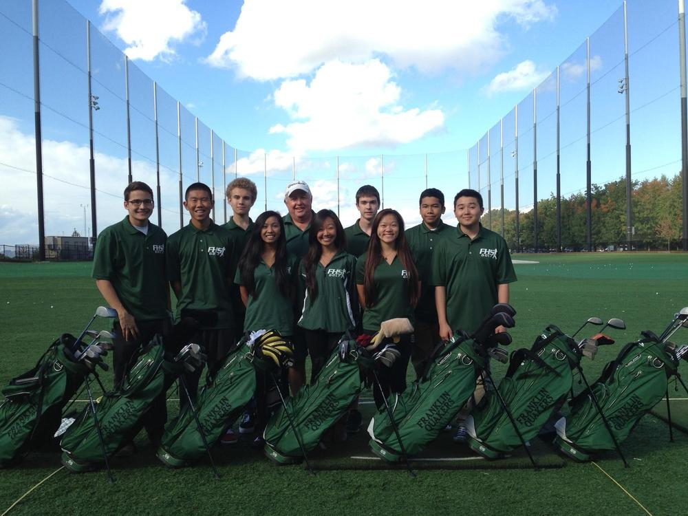 Franklin golf team and new bags 2014.jpg