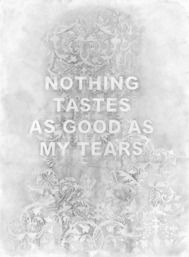 Nothing Tastes As Good As My Tears,  graphite on paper, 24 x 36 inches, 2016