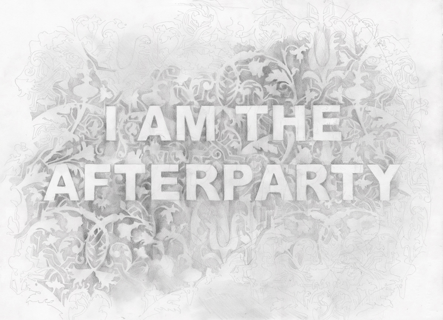 I Am The Afterparty,  graphite on paper, 16 x 24 inches, 2016