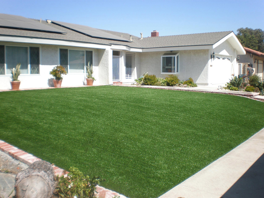 Synthetic grass landscape