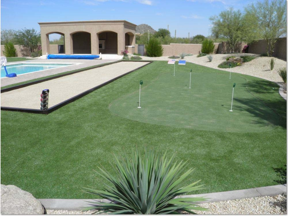 Bocce court and synthetic grass