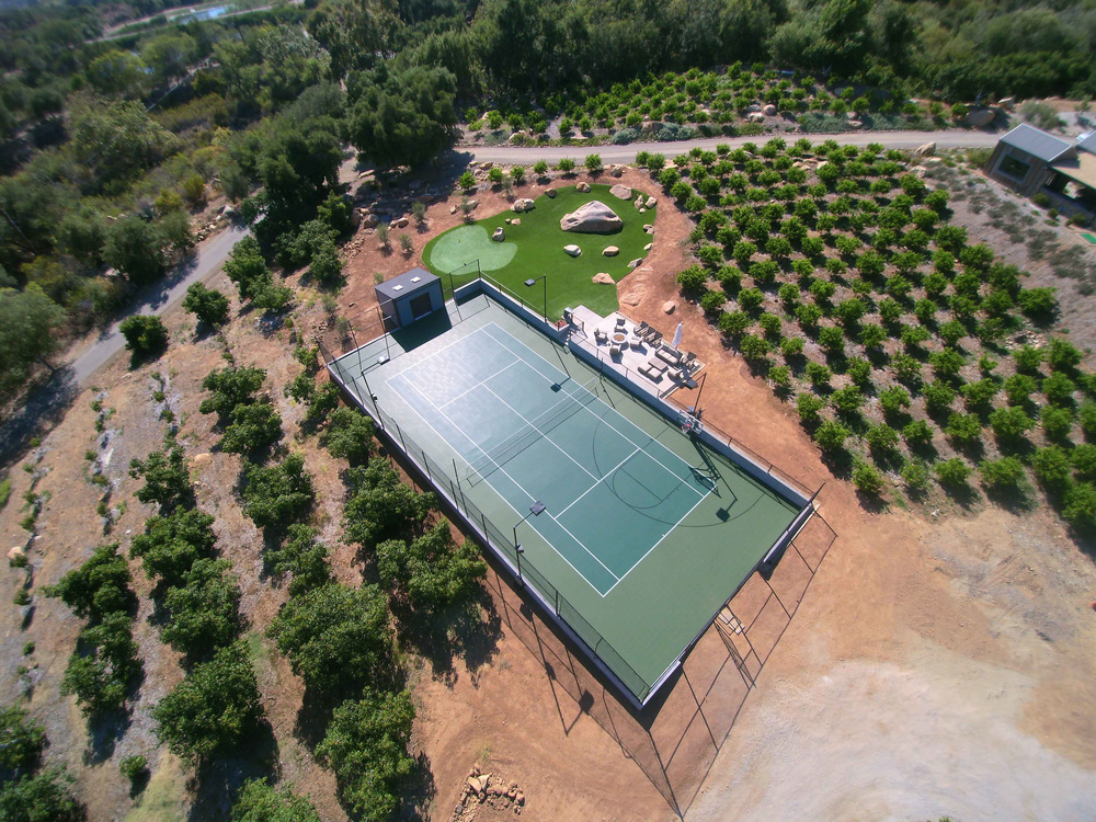 Sport Court and putting green with synthetic grass