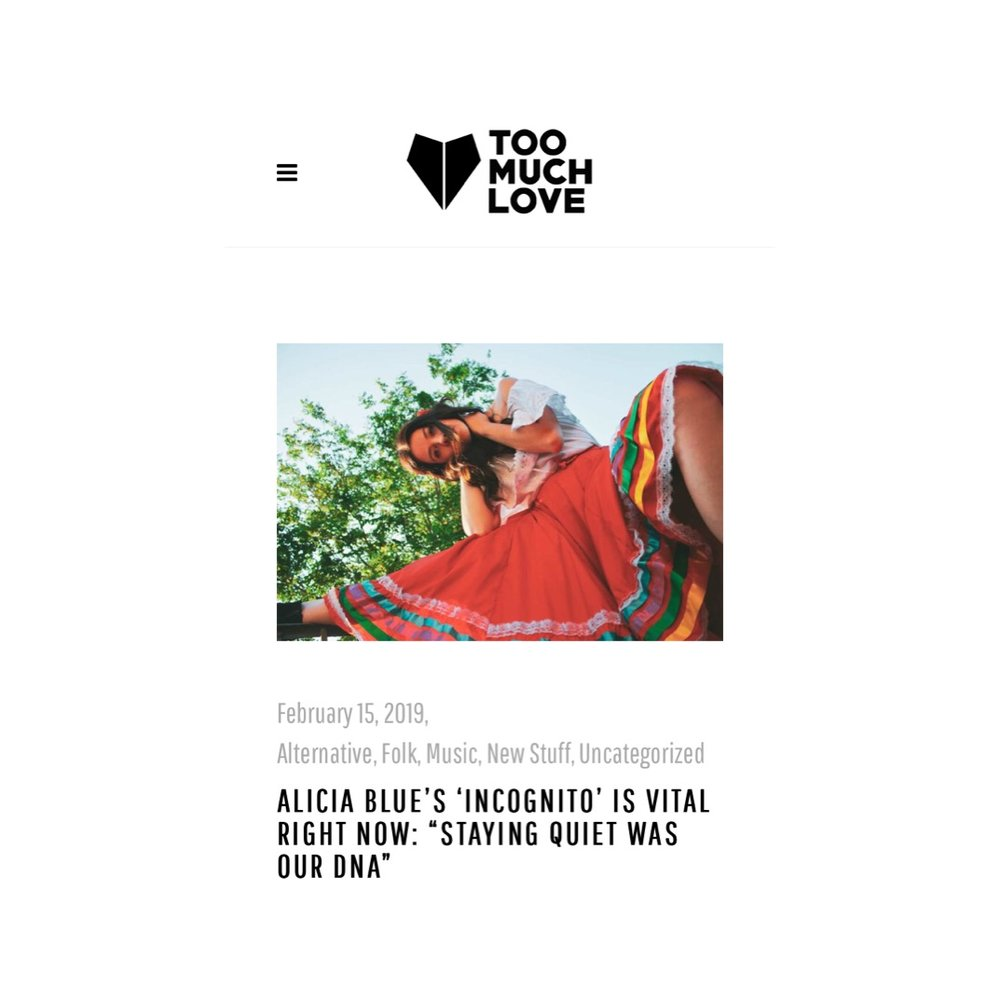 Alicia Blue Too Much Love Mag.JPG