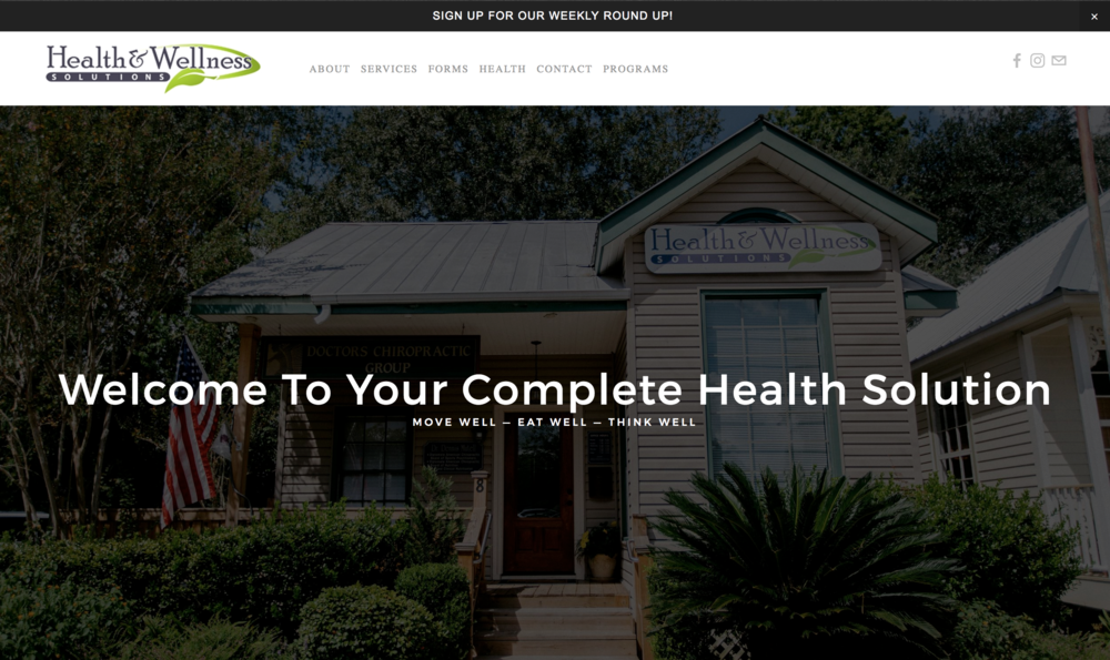 Chiropractor and Health Care Websites