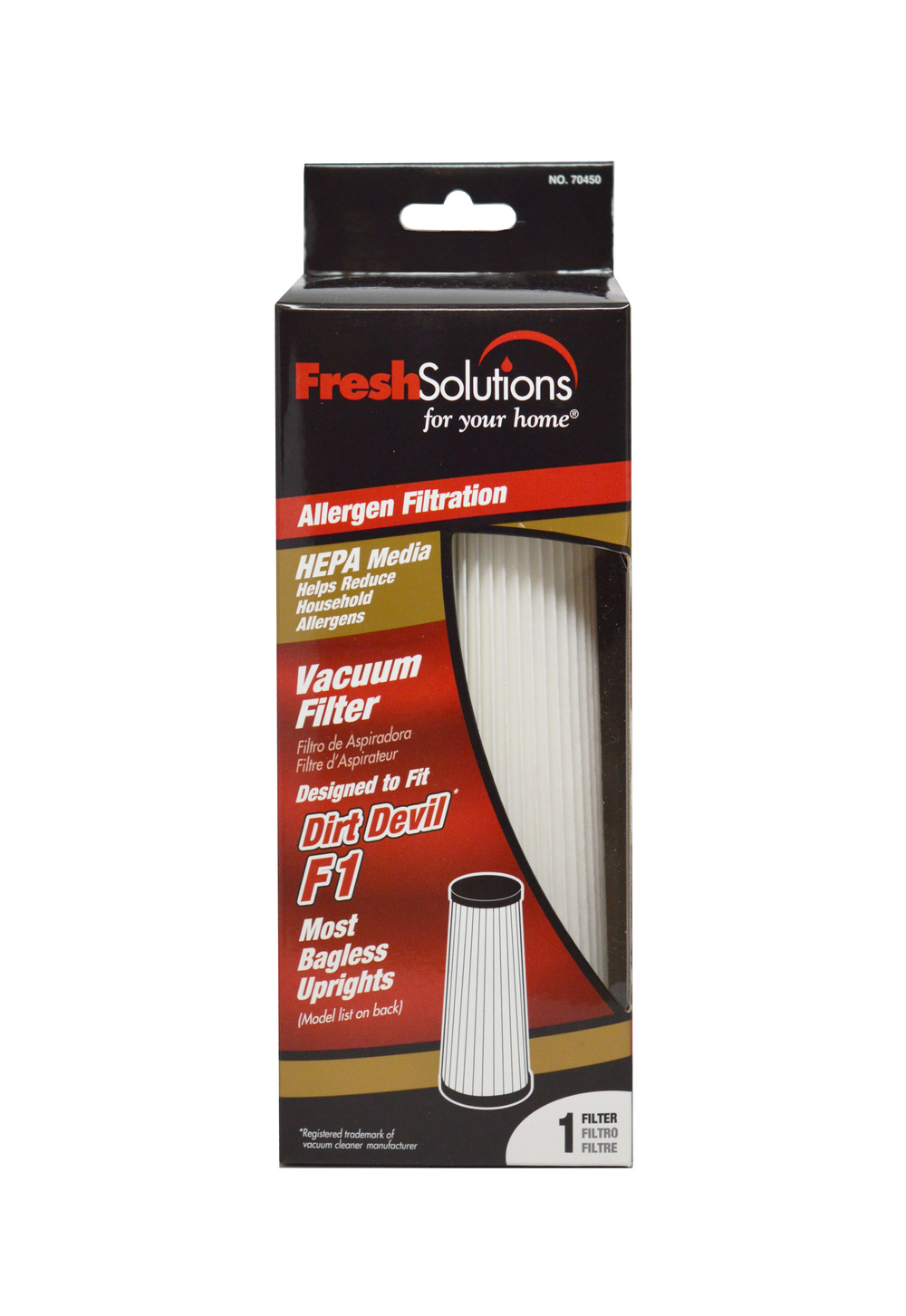 Allergen Filtration Vacuum Filter for Dirt Devil® F1*