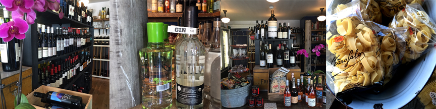 The beautiful shop is laden with unique wines, artisanal spirits and delicious provisions.