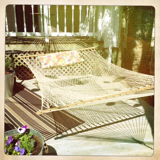 The hammock at Eben House is the ideal spot for leisurely afternoons.