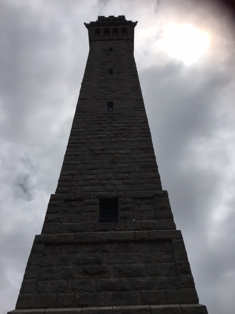 The Pilgirm Monument towers over Ptown, it commemorates the pilgrims first landing in Provincetown before heading to Plymouth.