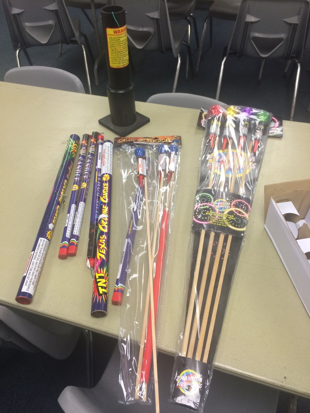 Confiscated illegal fireworks