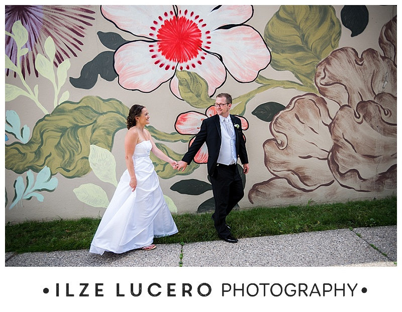 Floral mural , Detroit wedding