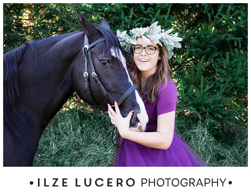 Horse senior photography inspiration