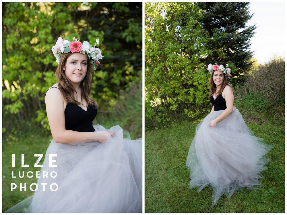 Flower crown senior photo