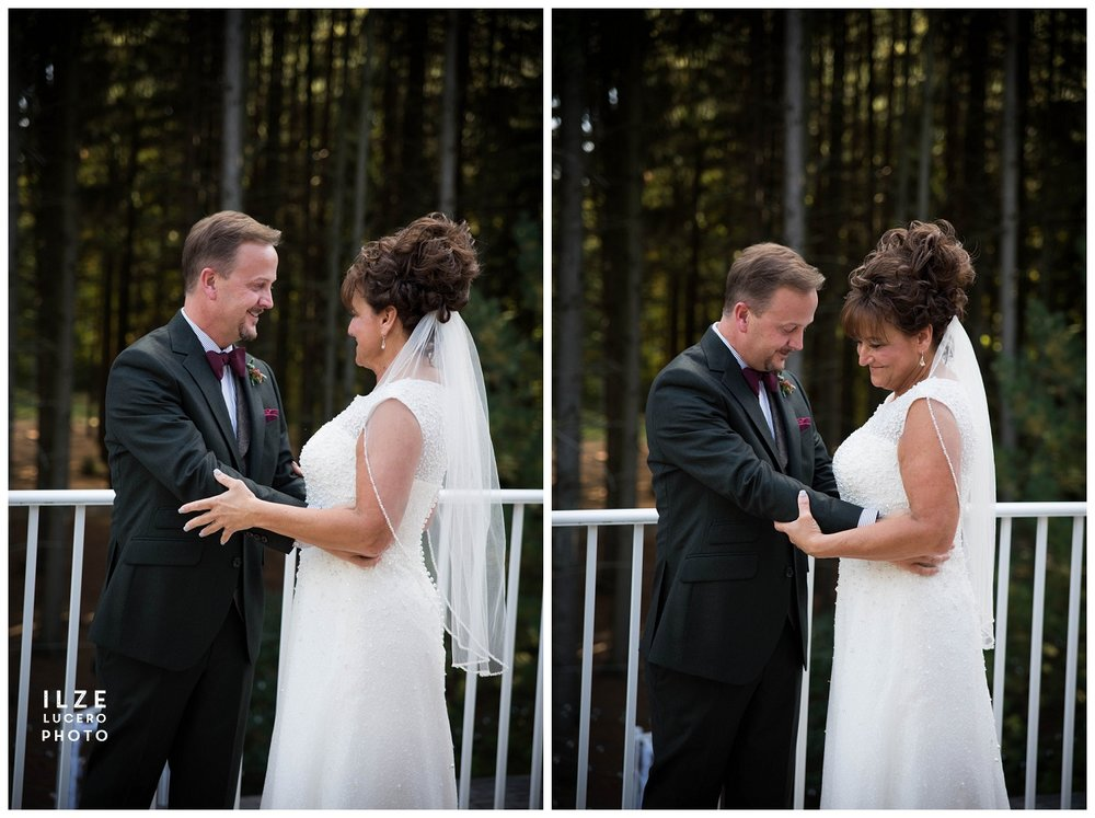 First look - Clarkston wedding