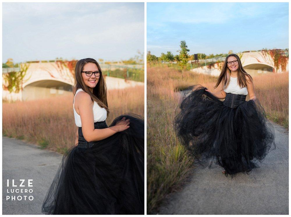 Tulle Skirt Senior Photo Shoot