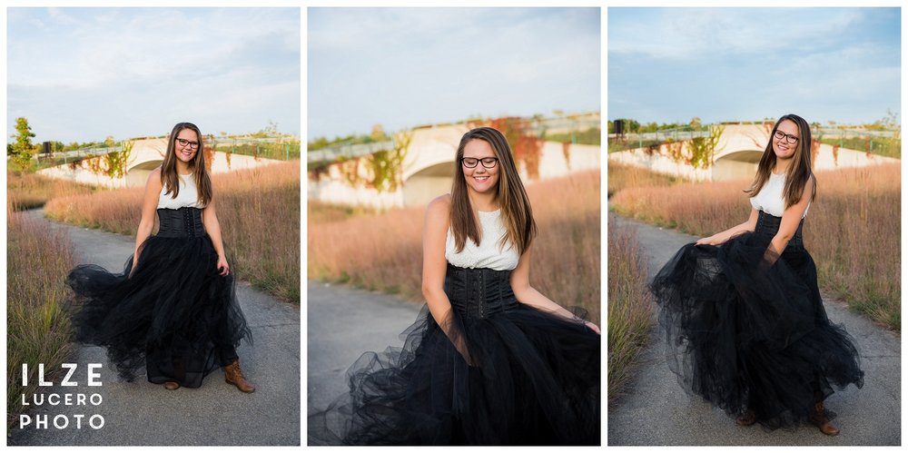 Senior pictures in Clarkston Tulle Skirt