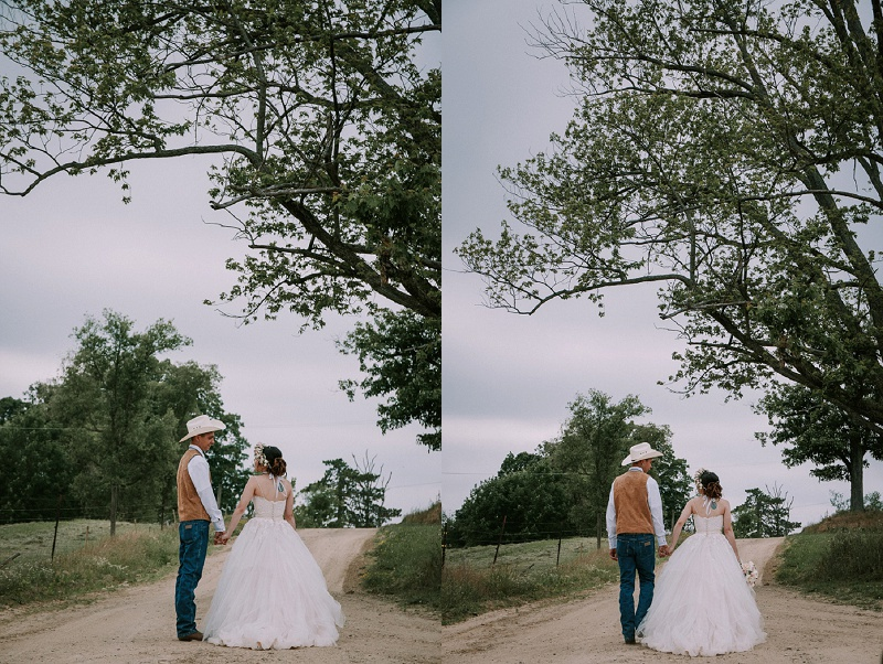 boho cowboy wedding Upland Hills Farm