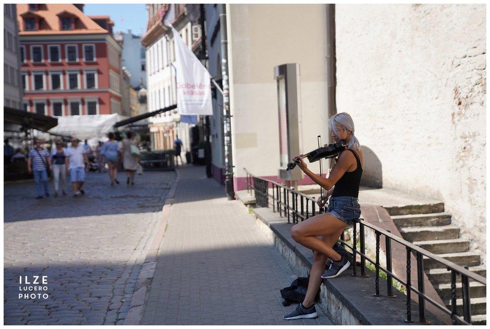Street Musician Riga