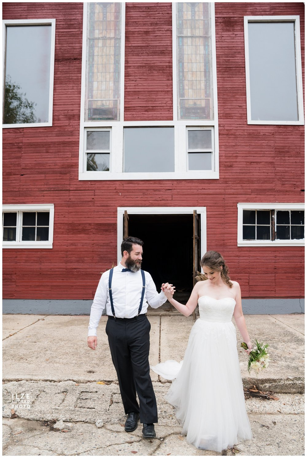Clarkston Wedding  Barn Venue with Church Windows