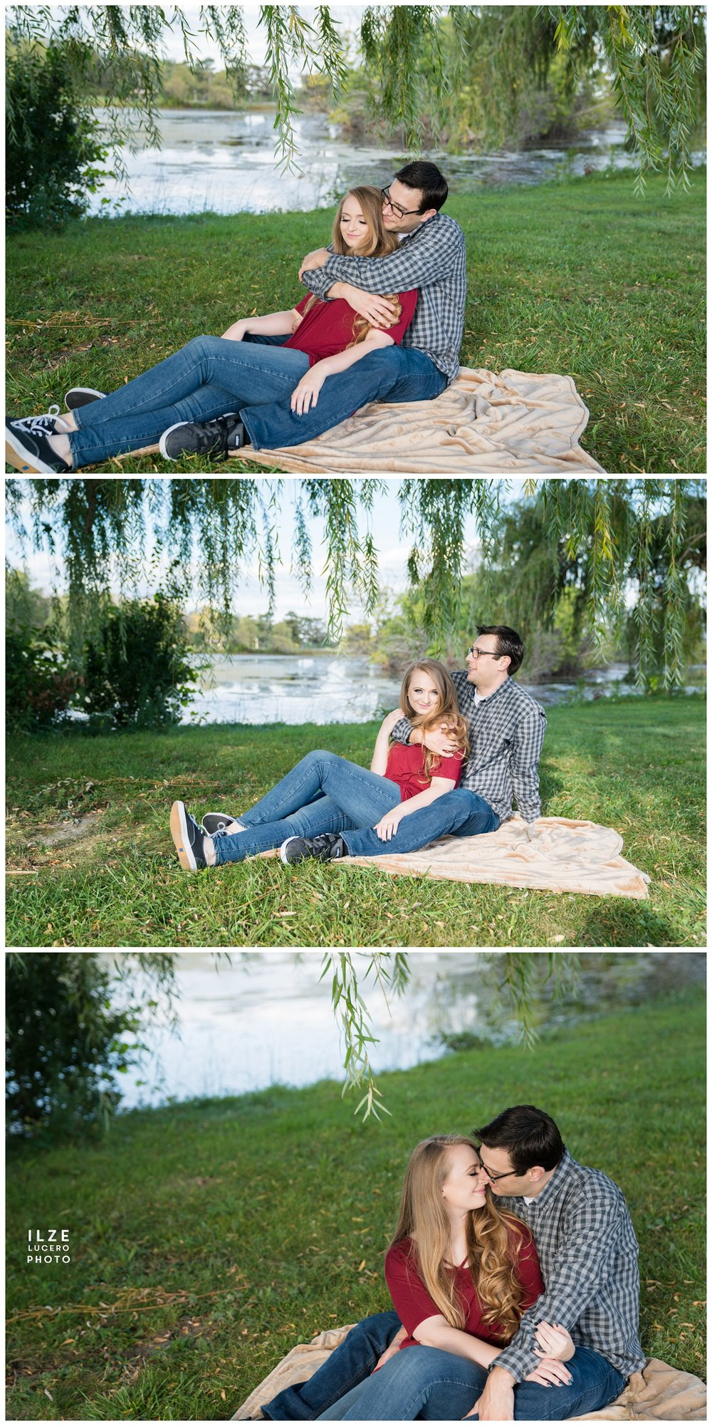 Engagement Photos near Willows on Belle Isle