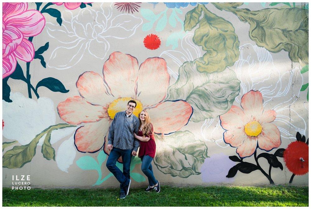 Ouizi floral mural Agnes St