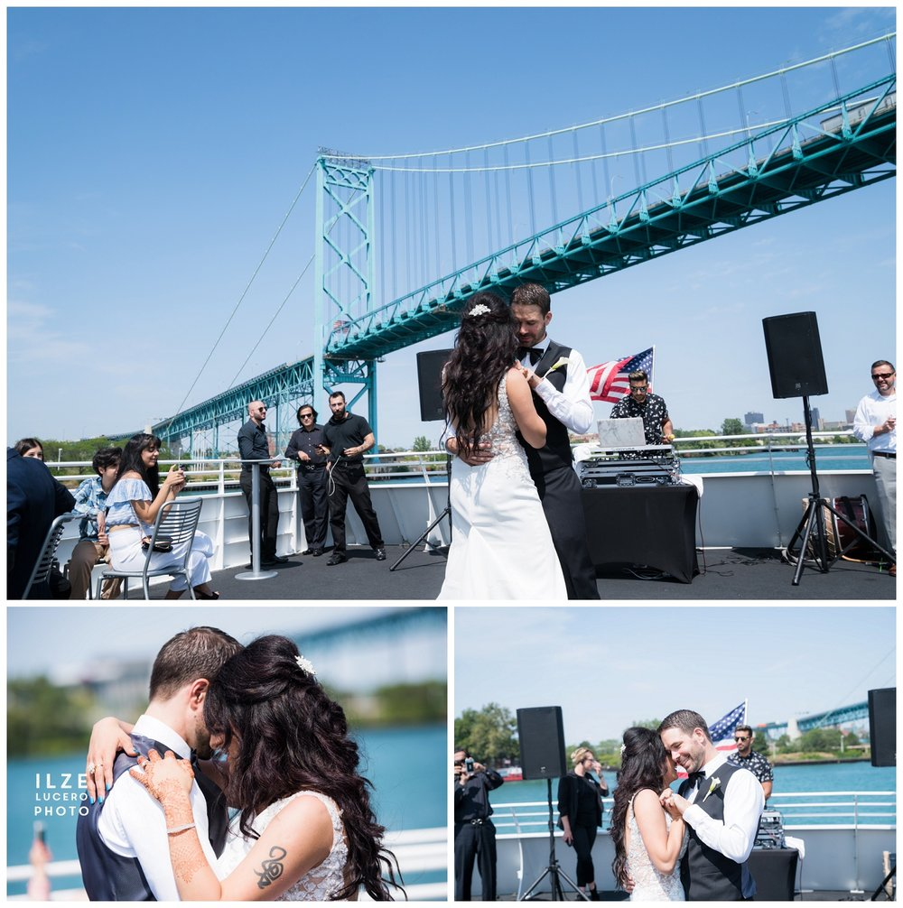 First dance Ambassador bridge Ovation yacht