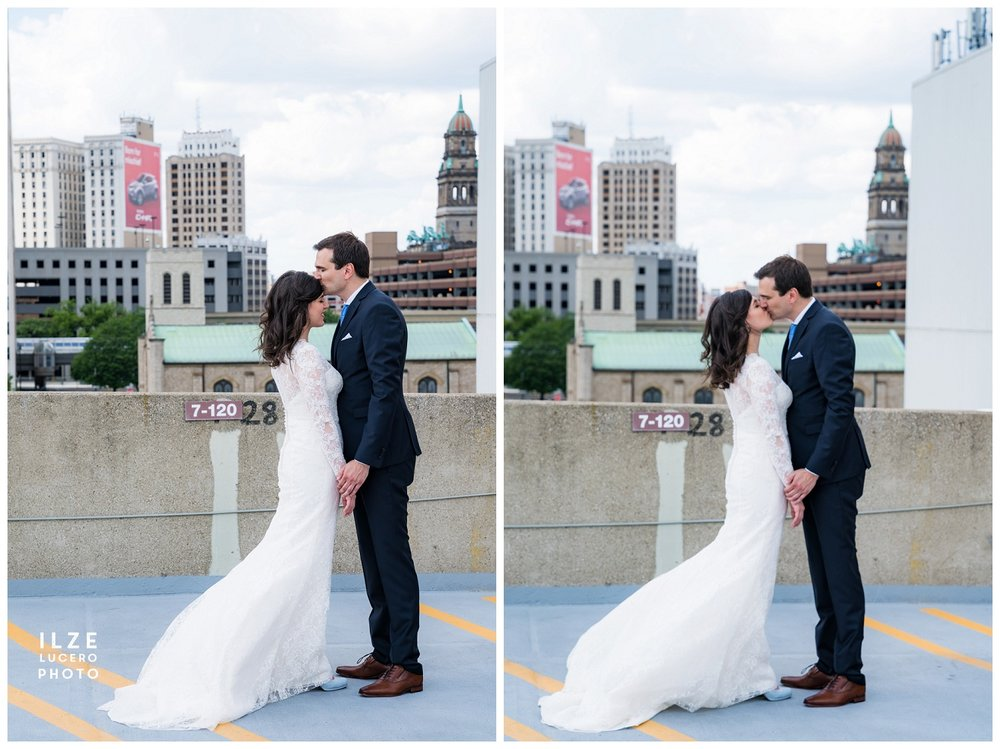 Detroit wedding parking lot photo inspiration