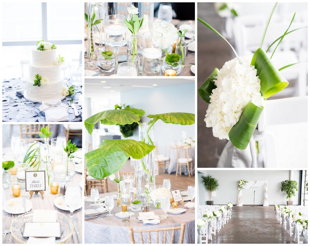 Modern Fresh White and Green Wedding Detroit