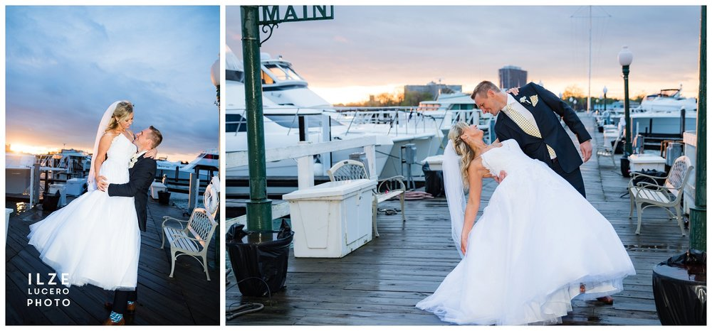 Bride and Groom Stunning Detroit Wedding