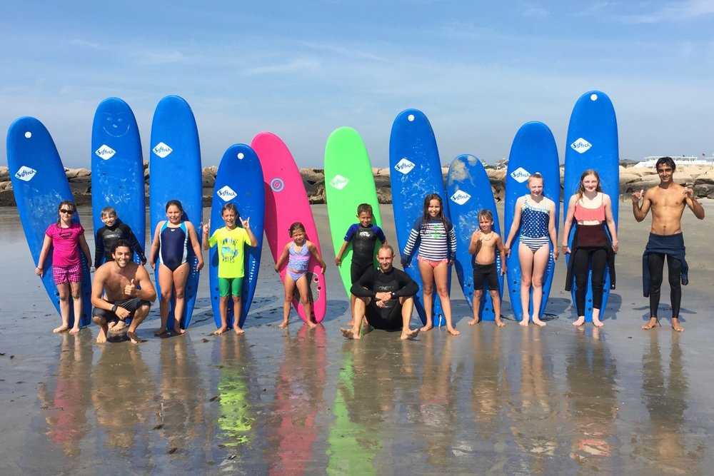 SURF CAMP - Week long camp in July & August. All ages and levels welcome.