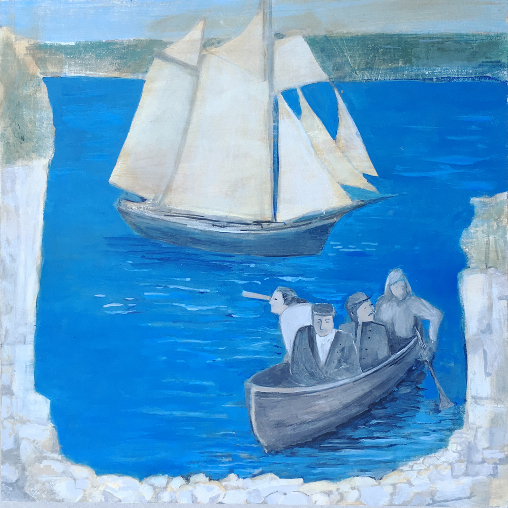 "Artist Portrayal of the schooner ""George Washington"" by Patricia Cauldwell"