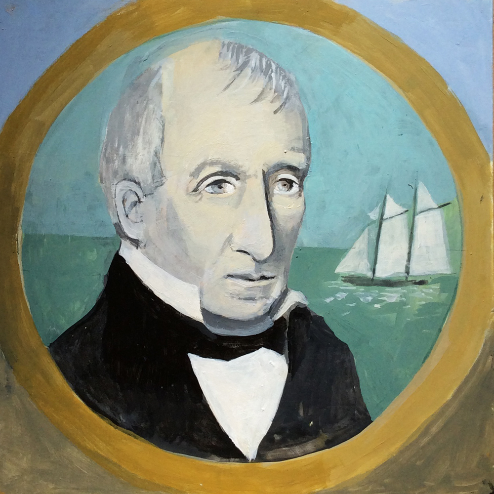 Artist portrayal of Captain Daniel Dobbins by Patricia Cauldwell