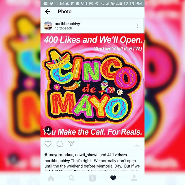 Well damn... Y'all called our bluff.  So it's Donkey Kong.  See all you amigos on May 5th.  We'll bring the sombreros.  And the band.  #bastards #weareactuallyquitelazy #thiswascertainlyunforeseen #applogiestoourstaff  And if this is any indication, we will all be making horrible decisions this summer.  #leggo #itson #cincocomestonorthbeach