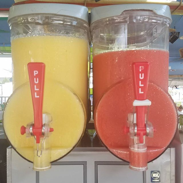 The Devil & The Angel.  A match made in  heaven.  And hell.  #frozenorangecrush #itsreal #itsrealdelish. We are open! #leggo