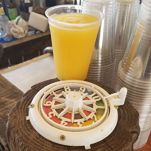 Sunday Funday just got Funday-er.  And it's our first one of the summer!  The show starts at 1PM with Sam, then Jefe & Jenni.  So leggo, Dewey Beach.  #spintowin #thatsafrozenorangecrush #yes #forreals #stepoutside