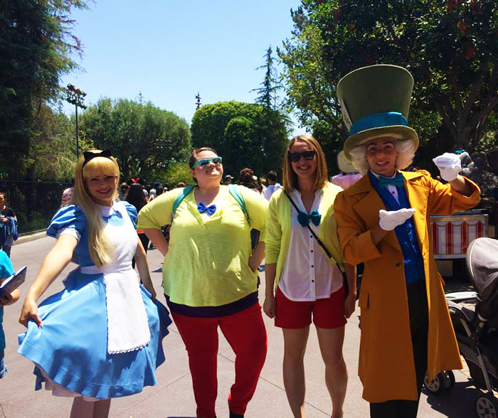 My friend and I Disneybounded as the Tweedles so well, the Mad Hatter stopped and asked to take a picture with us.