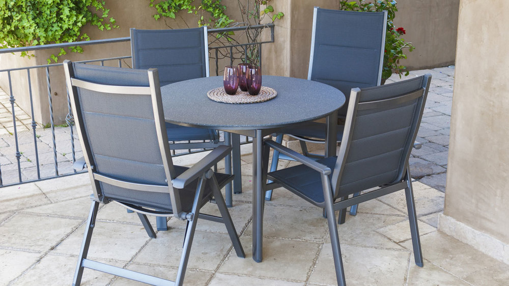 SunVilla Madrid Sling Dining Set