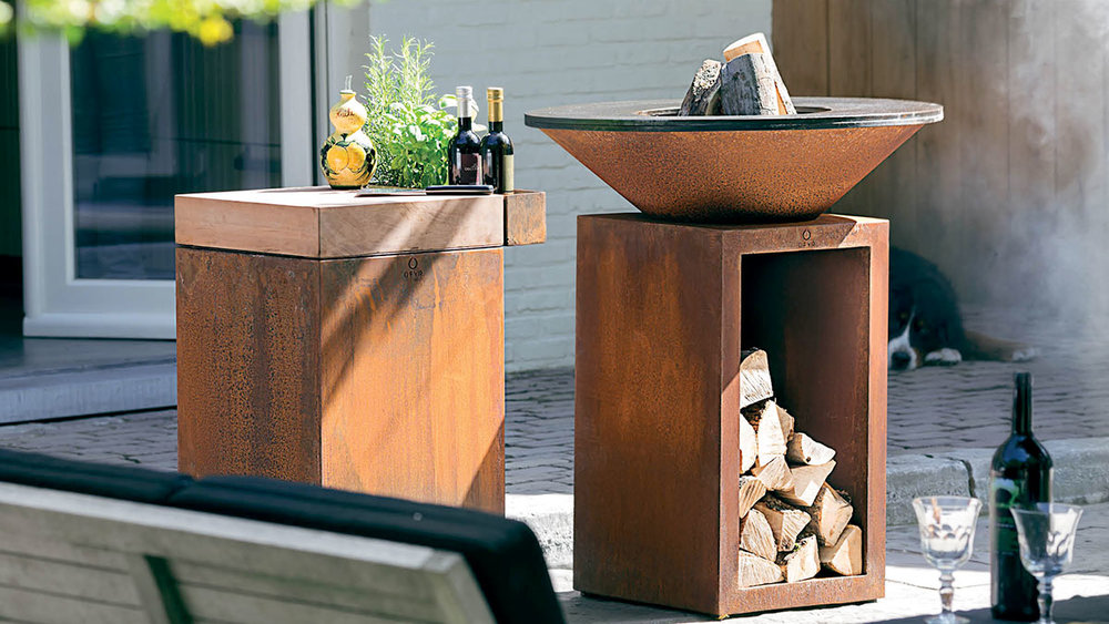 OFYR Wood Grill with Classic Storage