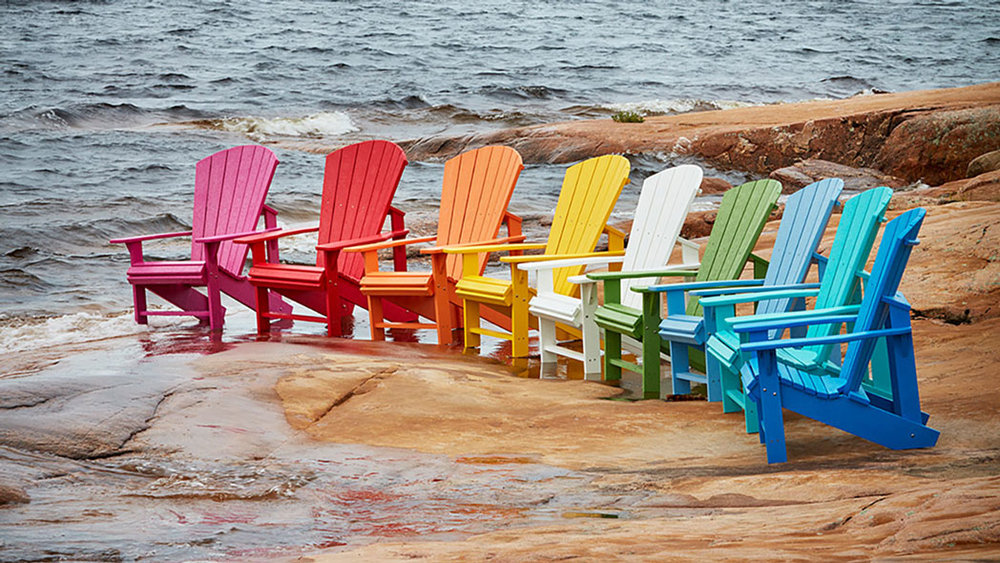 CR Plastics - Upright Adirondack Chairs