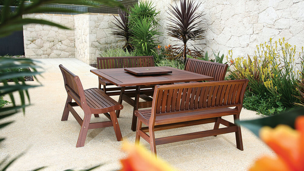 Jensen Leisure - Beechworth Table & Amber Benches