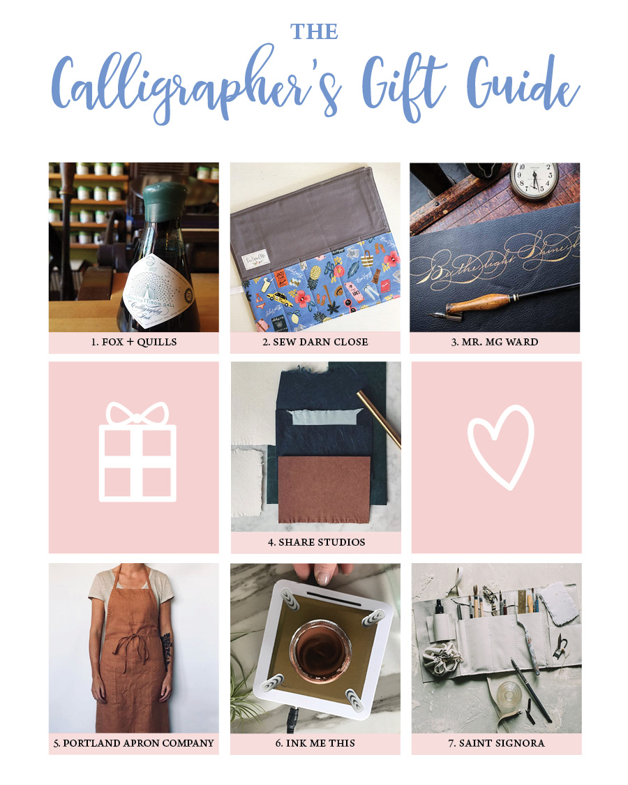 Calligraphy Gift Guide Photos courtesy of each shop owner.