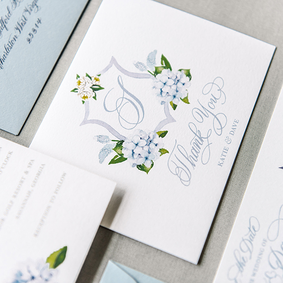 Watercolor Floral Wedding Thank You Cards