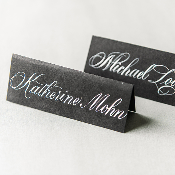 Black Tie Wedding Place Cards