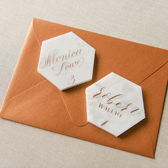 Marble Tile Place Cards