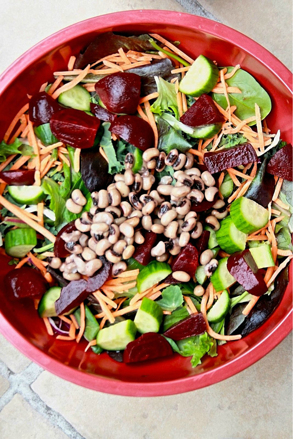 perfect salad with beans