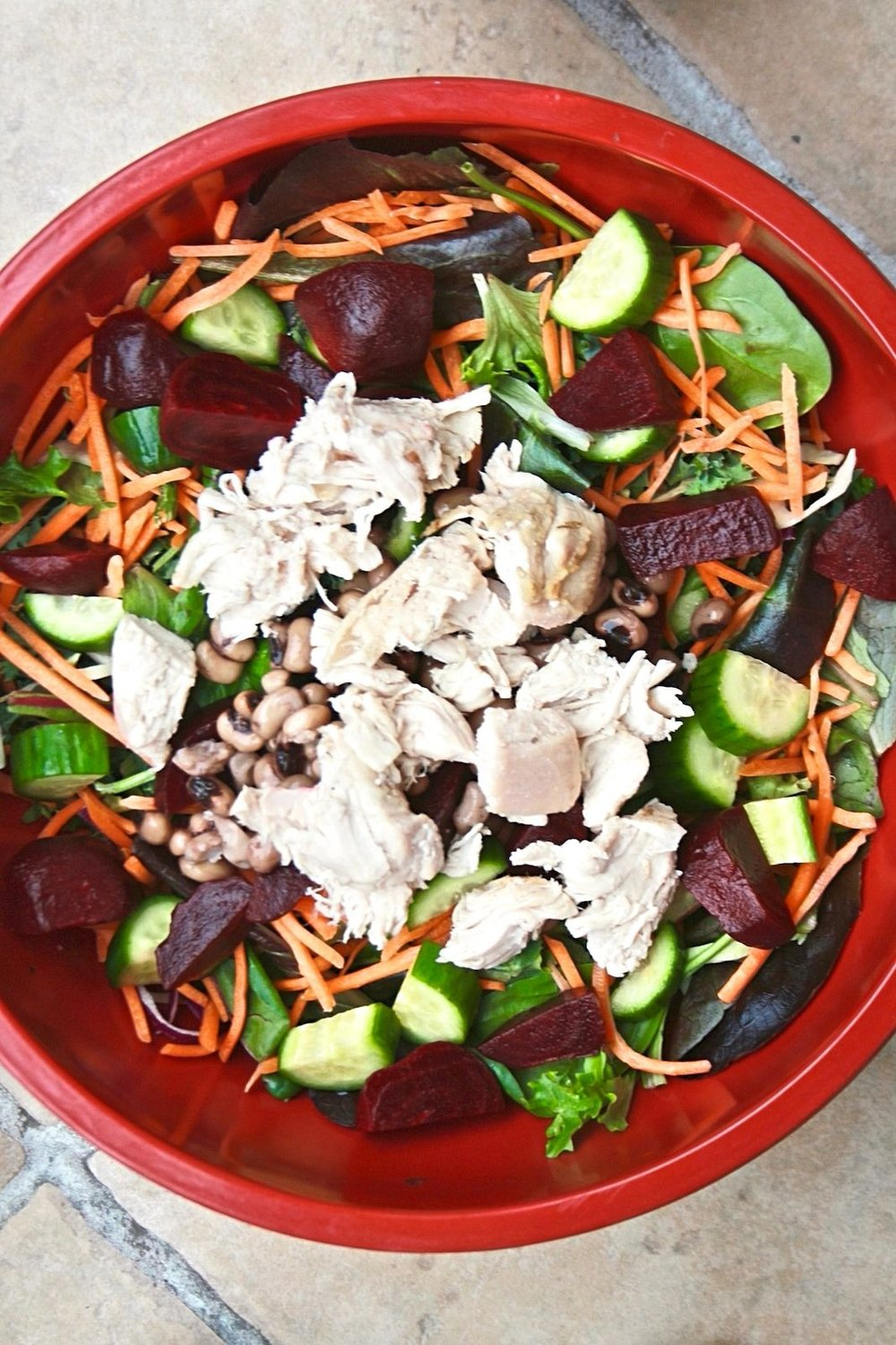 the perfect salad with chicken